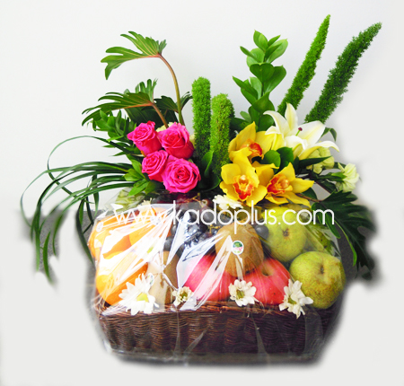 Parsel Buah Bunga Fruity Flower Basket 1 Toko Bunga Kadoplus